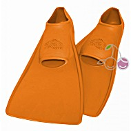 Ласты для бассейна резиновые детские размеры 21-22 оранжевые ПРОПЕРКЭРРИ (ProperCarry)