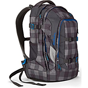 Рюкзак для мальчика Satch Pack SAT-SIN-001-9B0 Check Grey Black